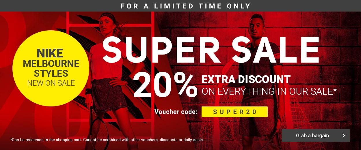 Super Sale 20% Nike