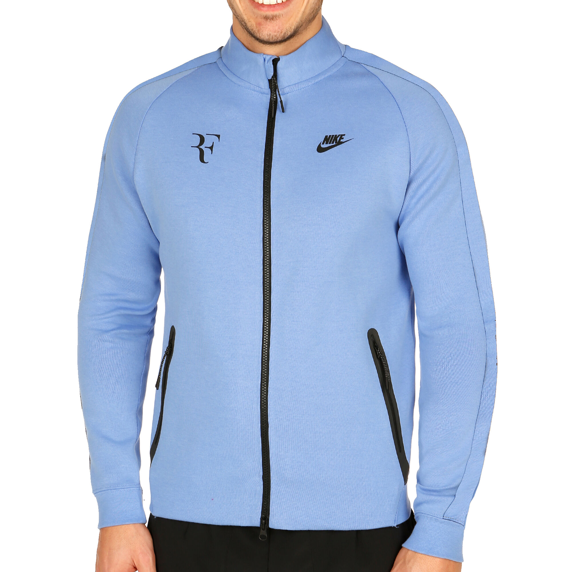00148881cfd Nike Roger Federer Premier Tréninková Bunda Muži - Světle Modrá ...
