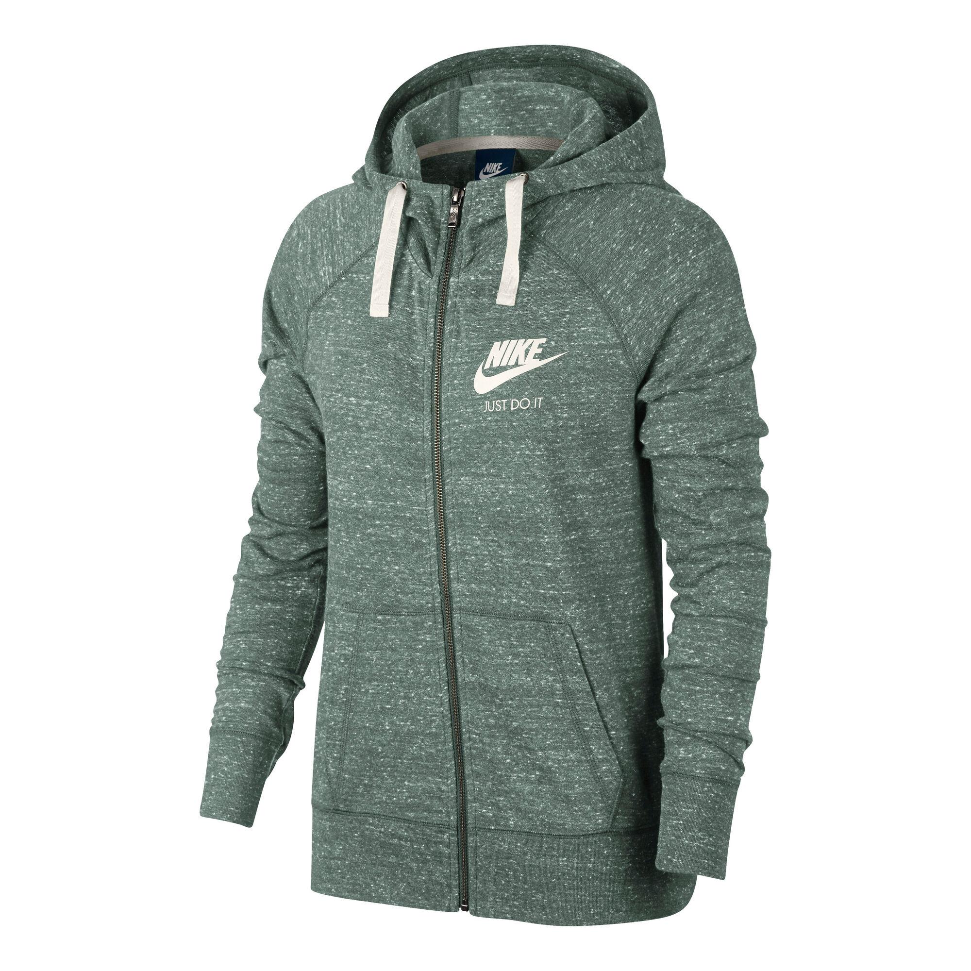 Nike Sportswear Gym Vintage Mikina S Kapucí Dámy - Tmavě Zelená ... 46ed9c08f79