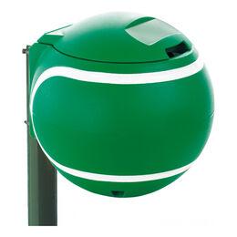 Abfallbehälter in Ballform