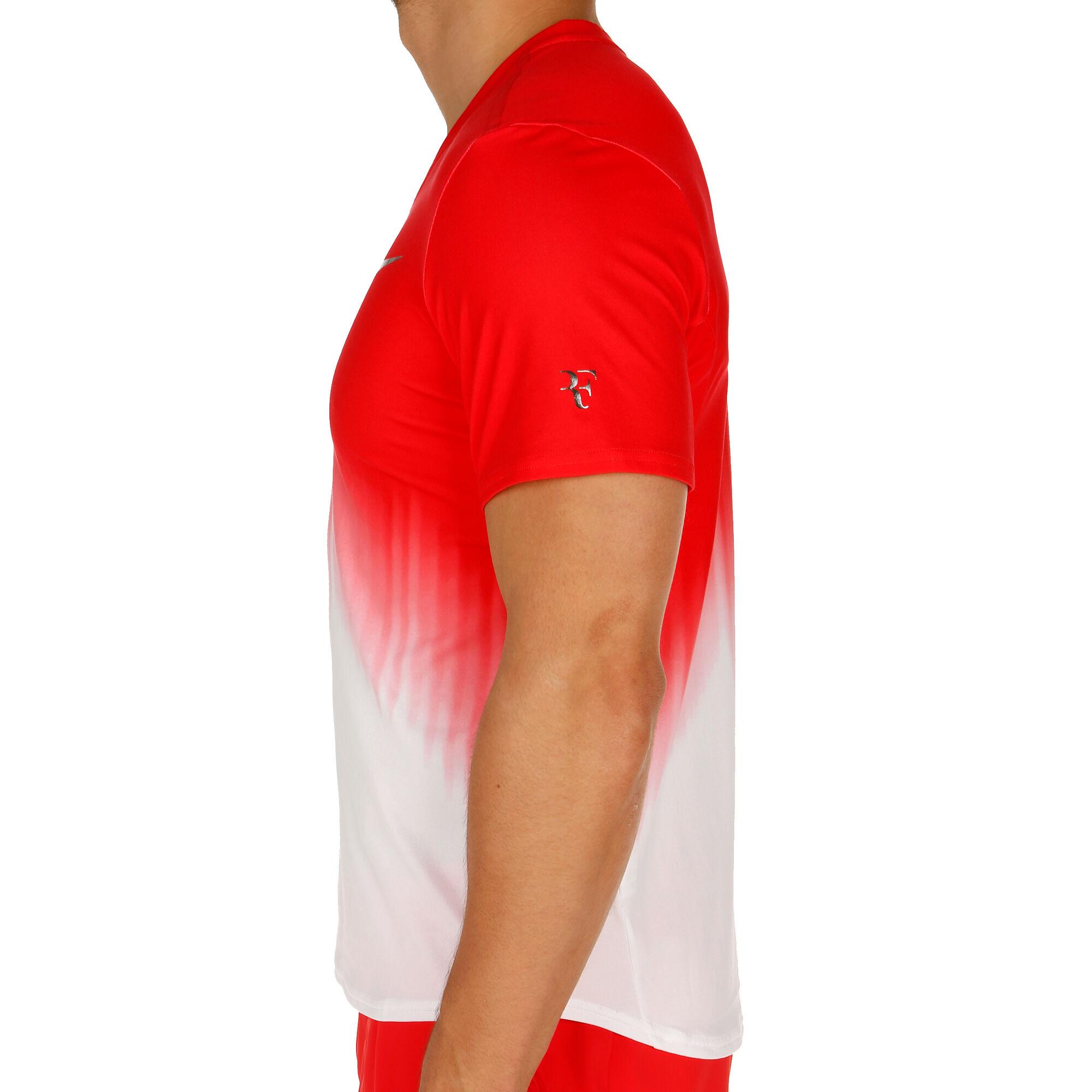 ed7386985a0 Nike Court Roger Federer Tričko Muži - Červená